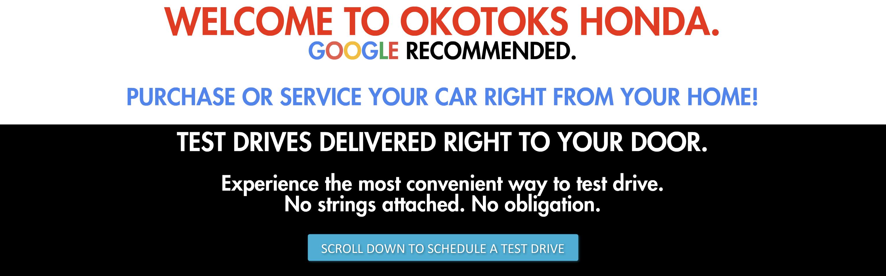 VIP Test Drive a New or Used Car - Okotoks Honda, South Calgary