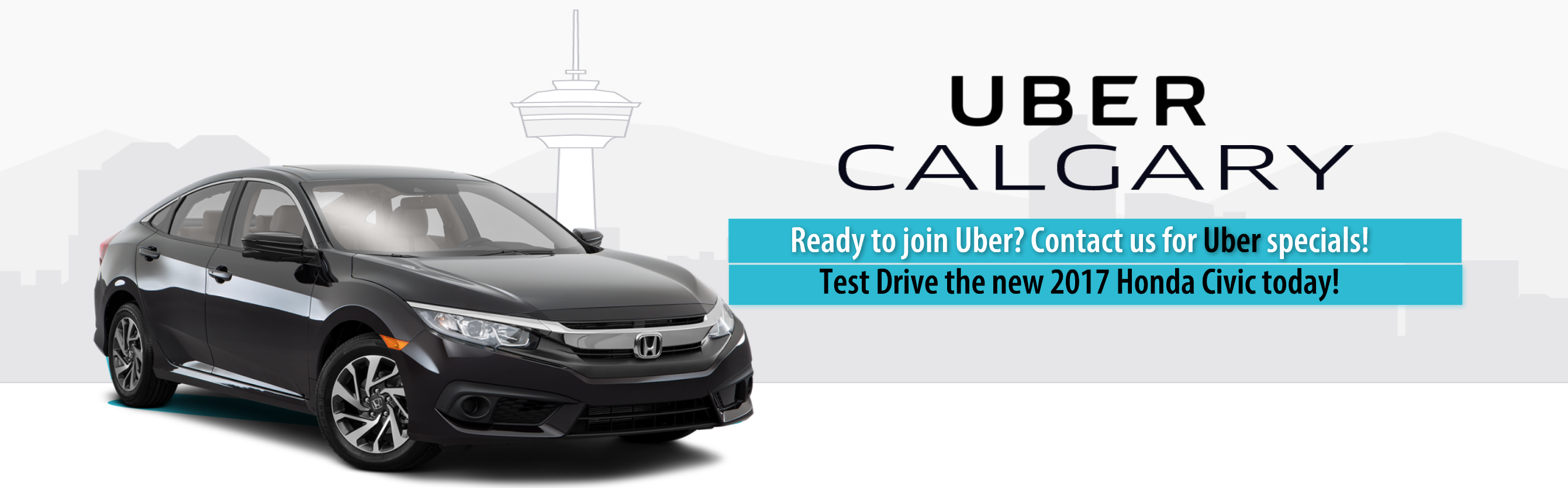 Best Car for Uber Calgary, Honda Civic from Okotoks Honda, South Calgary