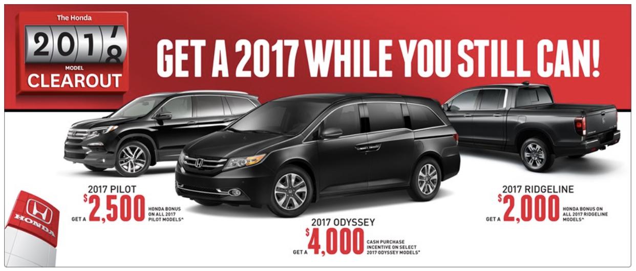 2017 Honda Pilot Savings